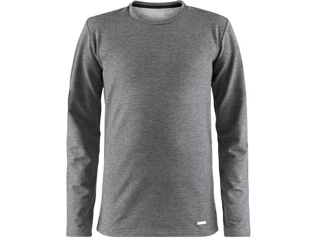 Craft Essential Round-Neck LS Shirt Kinder dk grey melange